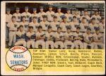 1958 Topps #44   Senators Team Checklist Front Thumbnail