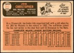 1966 Topps #343  Joe Christopher  Back Thumbnail