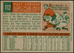 1959 Topps #112  Billy Consolo  Back Thumbnail