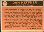 1966 Topps #269  Don Heffner  Back Thumbnail