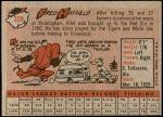 1958 Topps #339  Fred Hatfield  Back Thumbnail