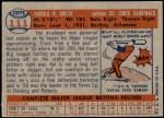 1957 Topps #111  Hal R. Smith  Back Thumbnail