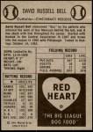 1954 Red Heart  Gus Bell  Back Thumbnail