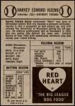 1954 Red Heart  Harvey Kuenn     Back Thumbnail