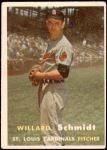 1957 Topps #206  Willard Schmidt  Front Thumbnail