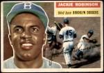 1956 Topps #30  Jackie Robinson  Front Thumbnail