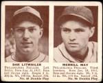 1941 Double Play #45  / 46 Danny Litwhiler / Merrill May  Front Thumbnail