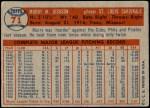 1957 Topps #71  Murry Dickson  Back Thumbnail