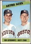 1966 Topps #273   -  Rusty Staub / Bob Aspromonte Astros Aces Front Thumbnail