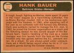 1966 Topps #229  Hank Bauer  Back Thumbnail