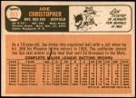 1966 Topps #343  Joe Christopher  Back Thumbnail