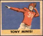 1949 Leaf #74  Tony Minisi  Front Thumbnail