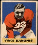 1949 Leaf #38  Vince Banonis  Front Thumbnail