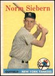 1958 Topps #54  Norm Siebern  Front Thumbnail