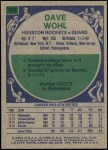 1975 Topps #162  Dave Wohl  Back Thumbnail