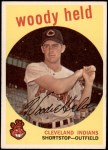 1959 Topps #266  Woodie Held  Front Thumbnail