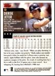 2000 Topps Opening Day #9  Derek Jeter  Back Thumbnail