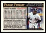 1998 Topps #20  Frank Thomas  Back Thumbnail