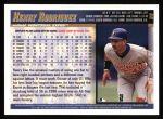 1998 Topps #99  Henry Rodriguez  Back Thumbnail