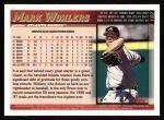 1998 Topps #162  Mark Wohlers  Back Thumbnail