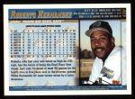 1998 Topps #430  Roberto Hernandez  Back Thumbnail