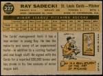 1960 Topps #327  Ray Sadecki  Back Thumbnail