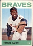 1964 Topps #454  Tommie Aaron  Front Thumbnail