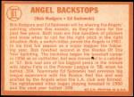 1964 Topps #61   -  Bob Rodgers / Ed Sadowski Angels Backstops Back Thumbnail