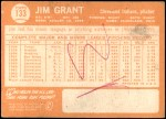1964 Topps #133  Mudcat Grant  Back Thumbnail