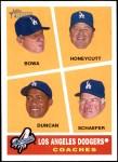2009 Topps Heritage #463   -  Larry Bowa  /  Mariano Duncan  /  Rick Honeycutt  /  Bob Schaefer Dodgers Coaches Front Thumbnail