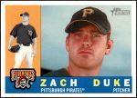 2009 Topps Heritage #437  Zach Duke  Front Thumbnail