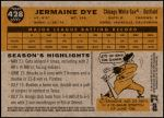 2009 Topps Heritage #428  Jermaine Dye  Back Thumbnail