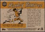 2009 Topps Heritage #488   -  Hanley Ramirez All-Star Back Thumbnail