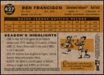 2009 Topps Heritage #427  Ben Francisco   Back Thumbnail