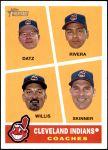 2009 Topps Heritage #460   -  Jeff Datz / Joel Skinner / Luis Rivera / Carl Willis Indians Coaches Front Thumbnail