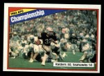 1984 Topps #7   AFC Championship Front Thumbnail