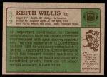 1984 Topps #172  Keith Willis  Back Thumbnail