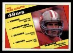 1984 Topps #349   -  Dwight Clark / Wendell Tyler / Eric Wright / Fred Dean / Ronnie Lott 49ers Leaders Front Thumbnail