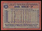 1991 Topps #29  Bob Walk  Back Thumbnail
