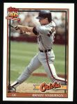 1991 Topps #97  Brady Anderson  Front Thumbnail