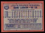 1991 Topps #102  Gene Larkin  Back Thumbnail
