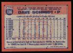 1991 Topps #136  Dave Schmidt  Back Thumbnail