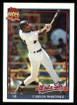 1991 Topps #156  Carlos Martinez  Front Thumbnail