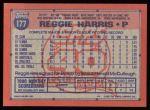 1991 Topps #177  Reggie Harris  Back Thumbnail