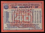 1991 Topps #717  Phil Bradley  Back Thumbnail