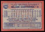 1991 Topps #744  Nelson Santovenia  Back Thumbnail