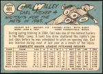 1965 Topps #401  Carlton Willey  Back Thumbnail