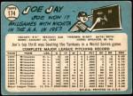 1965 Topps #174  Joey Jay  Back Thumbnail