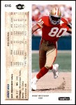1992 Upper Deck #616  Jerry Rice  Back Thumbnail