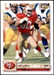 1992 Upper Deck #616  Jerry Rice  Front Thumbnail